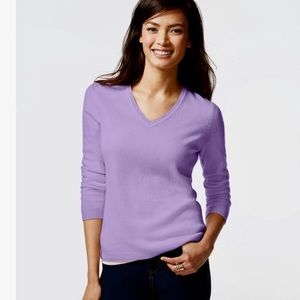 ❗️Macy's Cashmere V Neck Sweater MSRP $118!